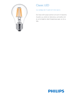 CLA LEDBulb ND 7.5-60W E27 WW A60 CL