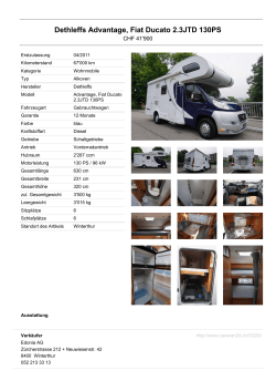 Dethleffs Advantage, Fiat Ducato 2.3JTD 130PS