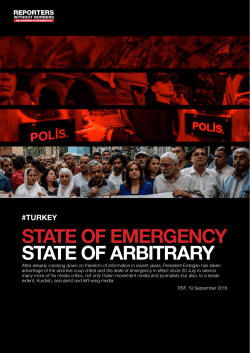STaTE of EmERgEncY STaTE of aRbiTRaRY