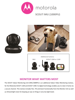 SCOUT IMU (1000PU) MONITOR WHAT MATTERS MOST