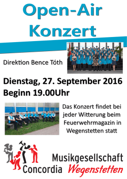 Flyer Open-Air Konzert 2016