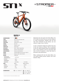 Powered by the new sporty Cyro Drive Motor, the ST1 X