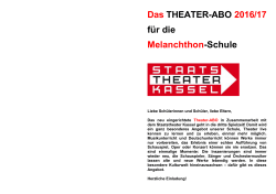 Theater-Abo 2016/17 Info-Flyer - Melanchthon