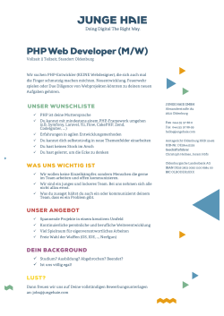 PHP Web Developer (M/W)