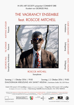 THE VAGRANCY ENSEMBLE feat. ROSCOE MITCHELL