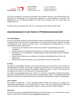 Assistenztrainer/-in der Damen U19