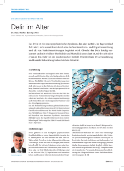 Delir im Alter - Swiss Medical Forum