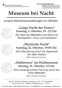 Museum bei Nacht - Oldenburger Wallmuseum