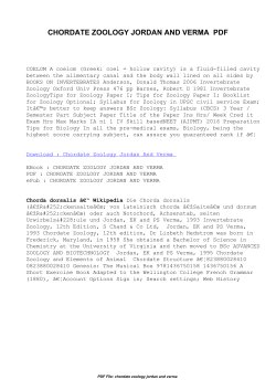 Chordate Zoology Jordan And Verma | Free Pdf eBooks