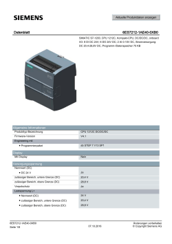 Datenblatt 6ES7212-1AE40-0XB0 - Siemens Industry Online Support
