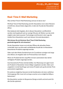 Real-Time E-Mail Marketing