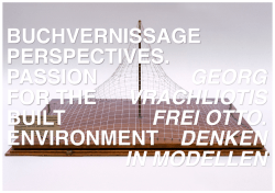 buchvernissage perspectives. passion for the built environment