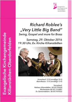 "Richard Roblee`s ""Very Little Big Band"""