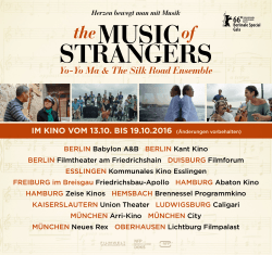 startkinos alle termine - The Music of Strangers
