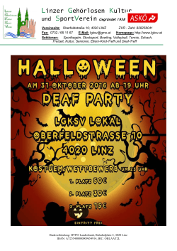 Halloween Deaf Party