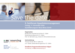 Save the date - Bankenberatungszentrum