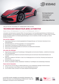 technischer redakteur (m/w) automotive