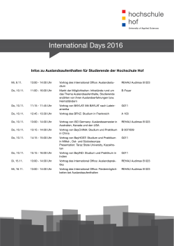 International Days 2016