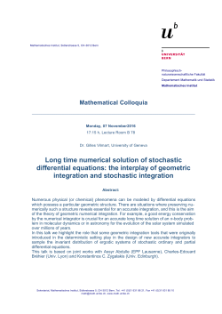 Long time numerical solution of stochastic differential equations