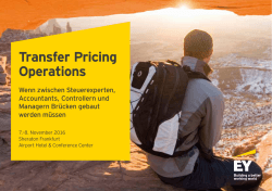 Transfer Pricing Operations