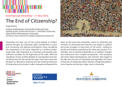 The End of Citizenship?
