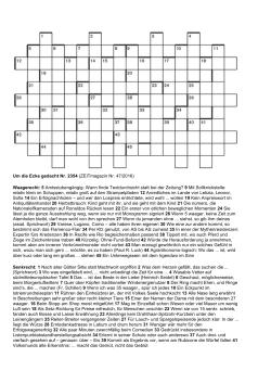 Hinweg Kreuzworträtsel