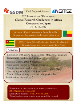 Global Research Challenges in Africa Compared to Japan
