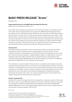 "BASIC PRESS RELEASE ""Green"""