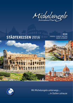 städtereisen 2016 - michelangelo.travel