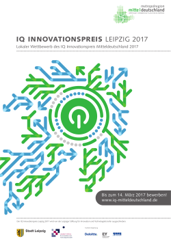 Plakat-Download zum IQ Innovationspreis Leipzig 2017