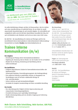 Trainee Interne Kommunikation (m/w)