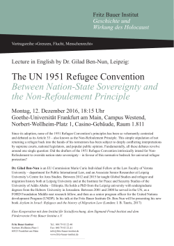The UN 1951 Refugee Convention Between Nation