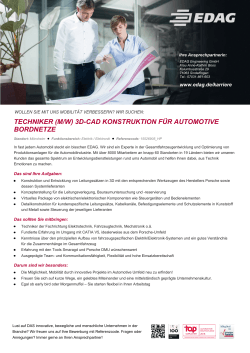 techniker (m/w) 3d-cad konstruktion für automotive bordnetze