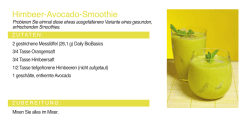 Himbeer-Avocado-Smoothie