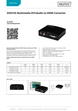 DIGITUS Multimedia DVI/Audio to HDMI Converter