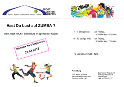 Zumba-Kids Flyer - Sportcenter Kappel