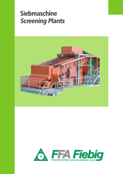Siebmaschine Screening Plants