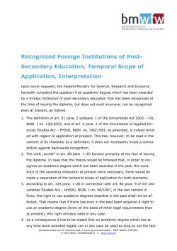 Institutions of post-secondary education, temporal scope of