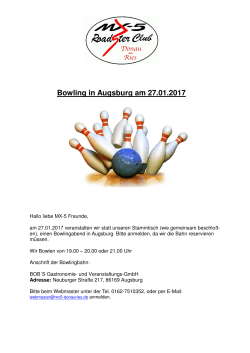 Bowling in Augsburg am 27.01.2017 - mx5