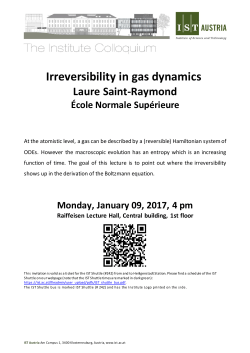 Irreversibility in gas dynamics