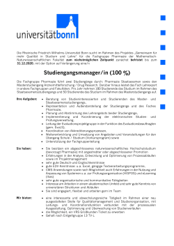Studiengangsmanager/in (100 %)