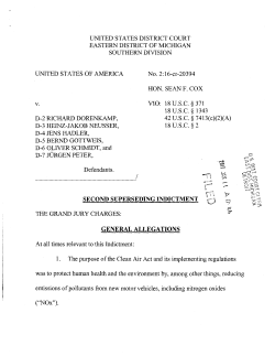 VW AG Second Superseding Indictment