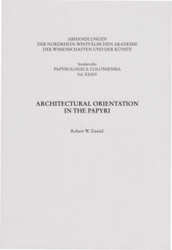 architectural orientation in the papyri - Nordrhein