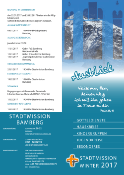 Programm Winter 2017 - Stadtmission Bamberg