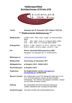 25.11. TGW-Schüler-Hallensportfest Worms