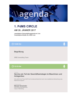 1. PdMS CIRCLE - SRB Consulting Team GmbH