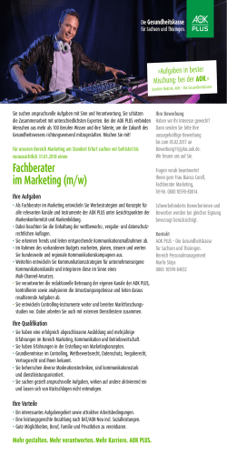 Fachberater im Marketing (m/w)