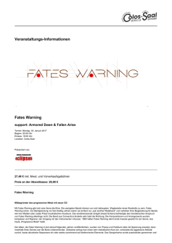 Fates Warning - Colos-Saal