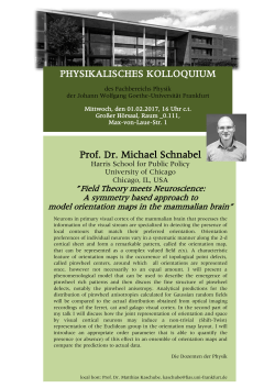 PHYSIKALISCHES KOLLOQUIUM Prof. Dr. Michael Schnabel