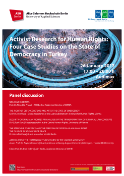 Activist Research for Human Rights: Four Case Studies on